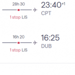 Flights from DUBLIN, Ireland to CAPE TOWN for €391 (Nov 2020 – Mar 2021)