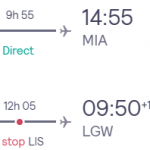 Cheap flights from London to MIAMI from £234 (Nov 2020 – Mar 2021)