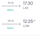 Cheap DIRECT flights from London to LOS ANGELES from £295 (Oct 2020 – Feb 2021)