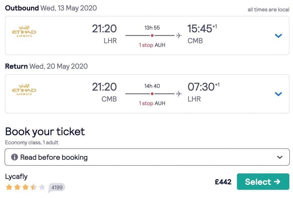 London to Colombo flights 1024x693 1