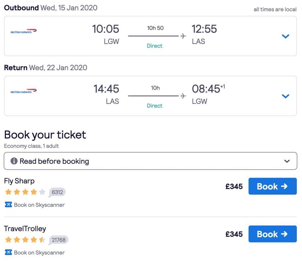 London to Las Vegas flights 1024x890 1