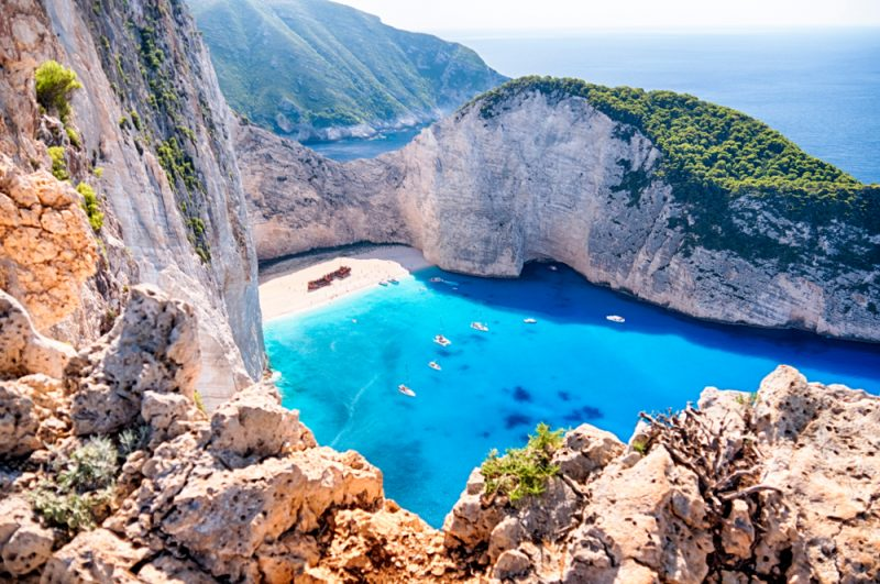 ST Zakynthos Navagio beach with the famous wrecked ship in Zante Greece 800x531 1