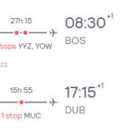 Dublin, Ireland to Boston, USA for only €258 roundtrip (Nov-Feb dates)