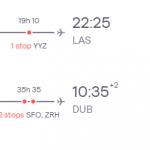 Dublin, Ireland to Las Vegas, USA for only €321 roundtrip (Nov-Mar dates)