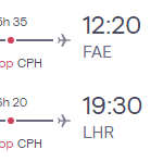 Flights from London to FAROE ISLANDS from £214