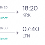 London, UK to Krakow, Poland for only £25 roundtrip (Sep-Oct dates)