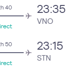 London, UK to Vilnius, Lithuania for only £20 roundtrip (Sep-Nov dates)