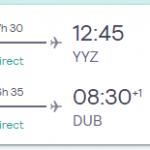 XMAS: Dublin, Ireland to Toronto, Canada for only €260 roundtrip (Nov-Mar dates)