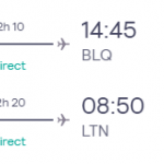 London, UK to Bologna, Italy for only £24 roundtrip (Sep-Oct dates)