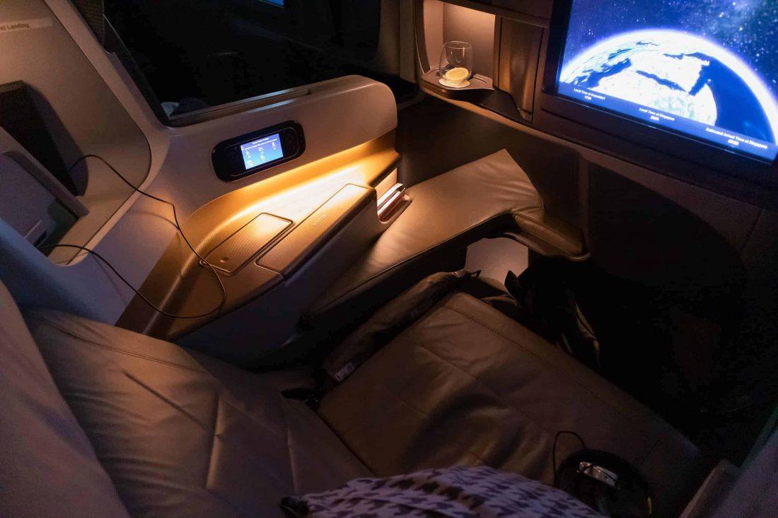 Singapore Airlines A350 Business Class Sitz Beleuchtung 1100x733 1