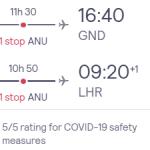 Flights from London to GRENADA, CARIBBEAN ISLANDS from £414 (Nov 20 – Mar 21)