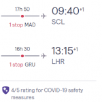 Flights from London to CHILE from £400 (Nov 20 – Mar 21)