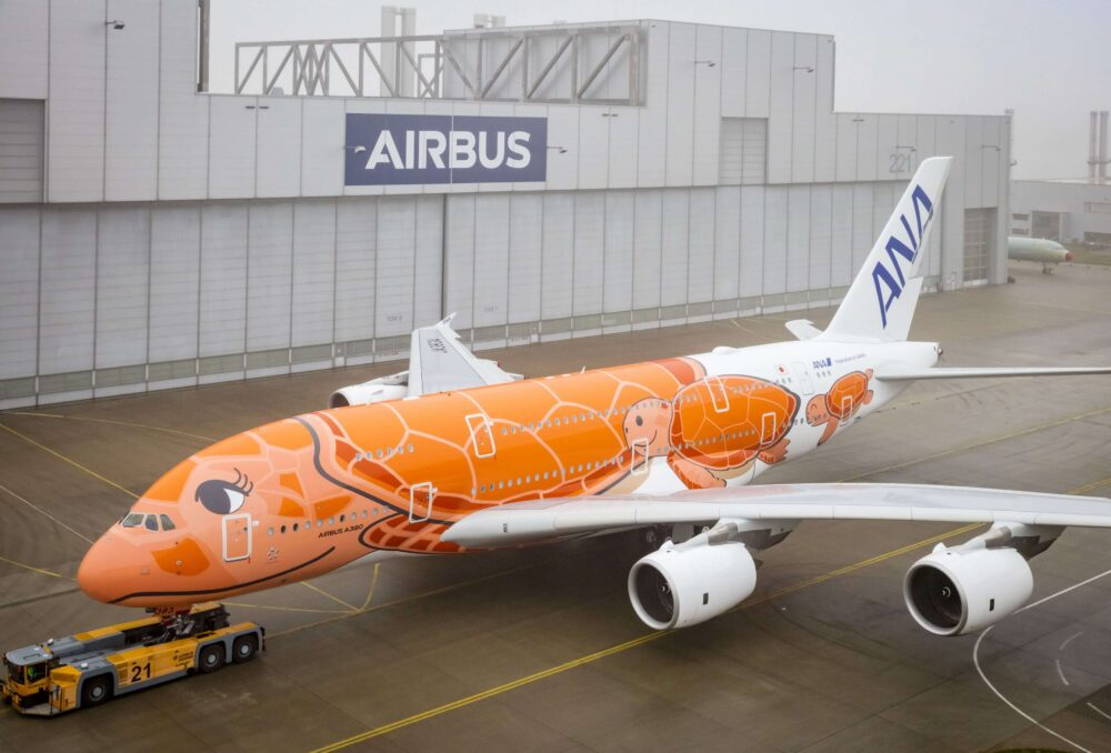 third all nippon airways a380 – paint shop rollout 1000x678 1